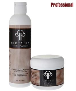 Маска энзимная Какао для лица двухкомпонентная / CIRCADIA / набор с семплами